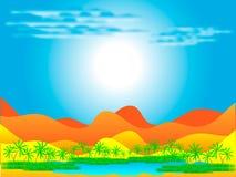 pustynna oaza ilustracji