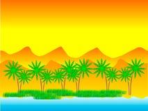 pustynna oaza royalty ilustracja