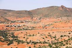pustynna pól uprawnych Morocco Obraz Royalty Free