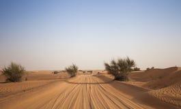 Pustynna piasek droga Zdjęcia Stock
