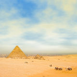 pustynna podróż Zdjęcia Stock