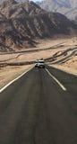 pustynna road Zdjęcia Royalty Free