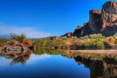 pustynna rzeka Obraz Stock