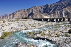 Pustynna rzeka Fotografia Stock