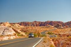 pustynna samochód autostrada Obraz Stock