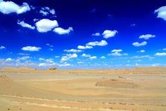 Pustynna sceneria w Tybetańskim plateau i Fotografia Royalty Free