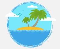 Pustynna wyspa Zdjęcia Royalty Free