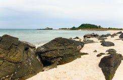 Pustynna wyspa w oceanie indyjskim Tajlandia Zdjęcia Stock