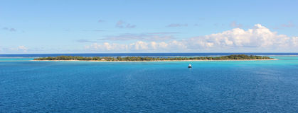Pustynna wyspa w Pacyficznym oceanie, Micronesia Obraz Royalty Free