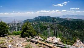 Pustynne góry od góry Lemmon Tucson Arizona obrazy stock