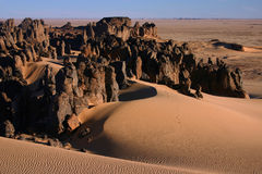 pustynne skały Zdjęcia Royalty Free