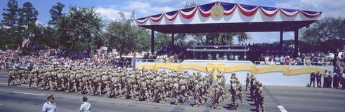Pustynnej Burzy zwycięstwa Militarna parada, washington dc Fotografia Royalty Free