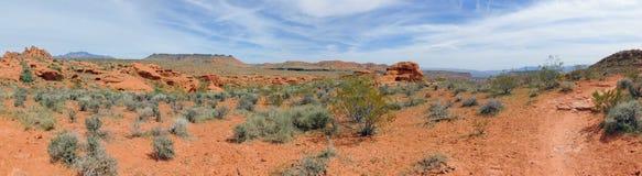 Pustynni panoramiczni widoki od wycieczkować wlec wokoło St George Utah wokoło Beck wzgórza, Chuckwalla, żółw ściany, raju obręcz Obrazy Royalty Free