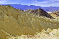 Pustynny badlands krajobraz, Śmiertelna dolina, park narodowy Fotografia Stock