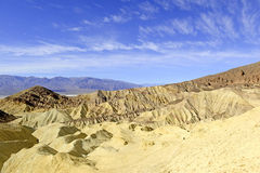 Pustynny badlands krajobraz, Śmiertelna dolina, park narodowy Fotografia Royalty Free