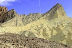 Pustynny badlands krajobraz, Śmiertelna dolina, park narodowy Zdjęcie Stock