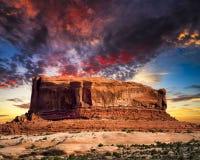 Pustynny Butte w Utah Obrazy Stock