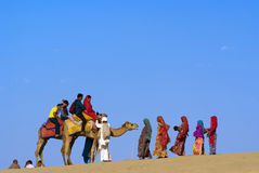 Pustynny festiwal w Jaisalmer Obraz Royalty Free