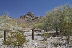 Pustynny góra krajobraz z Bezchmurnym niebem Fotografia Stock