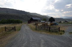 Pustynny gospodarstwo rolne Zdjęcia Stock