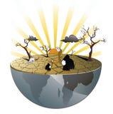 pustynny ilustraci wektoru sęp royalty ilustracja