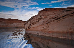 pustynny jezioro Zdjęcie Stock