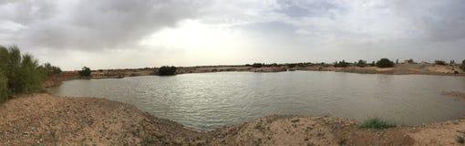 Pustynny jezioro w Jordania obraz stock