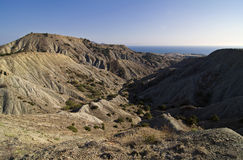 Pustynny krajobraz w Krymskich górach. obraz stock