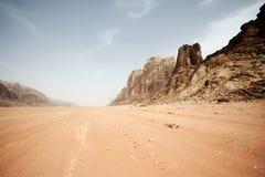 Pustynny krajobraz - wadiego rum, Jordania Obraz Royalty Free