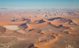 Pustynny krajobraz (widok z lotu ptaka) Obrazy Royalty Free