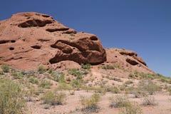 Pustynny góra krajobraz z Bezchmurnym niebem Obraz Stock