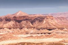 Pustynny krajobraz z skalistymi wzgórzami, Izrael Obrazy Stock