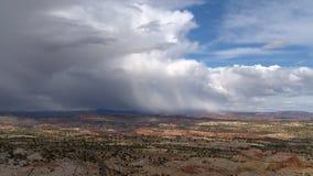 Pustynny krajobrazowy gigant chmury cienia timelapse zbiory