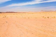 pustynny krajobrazowy rumowy wadi Obraz Royalty Free