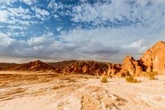 Pustynny krajobrazowy tła globalnego nagrzania pojęcie Obrazy Stock