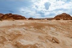 Pustynny krajobrazowy tła globalnego nagrzania pojęcie Obraz Stock