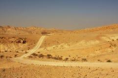 pustynny ślad Zdjęcia Royalty Free