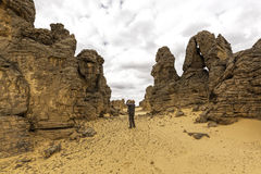 Pustynny Libya Zdjęcia Royalty Free