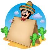 pustynny mężczyzna meksykanina stół Obrazy Stock