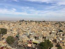 Pustynny miasto rozciąga horyzont Fotografia Royalty Free