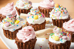 Pustynny muffins tort Zdjęcia Royalty Free