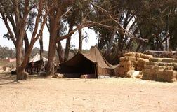 Pustynny namiot Zdjęcia Stock