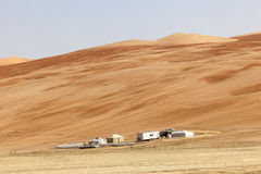 Pustynny obóz w Liwa oazie Obrazy Royalty Free