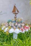 Pustynny ogród z sukulentami Fotografia Stock