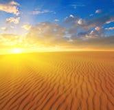 Pustynny piaska zmierzch Fotografia Royalty Free