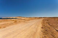 Pustynny road Zdjęcie Stock