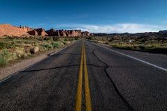 Pustynny road Fotografia Royalty Free