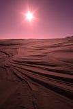 pustynny słońce Zdjęcia Royalty Free