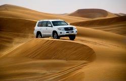 Pustynny safari w Dubaj, Zlani arony Obrazy Stock