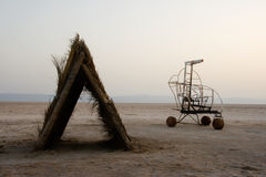 pustynny soli schronienia pojazd obraz royalty free